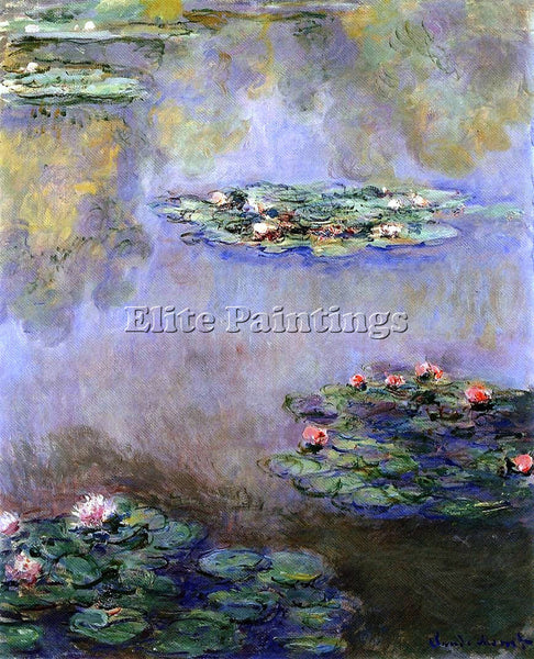 CLAUDE MONET WATER LILIES 3 ARTIST PAINTING REPRODUCTION HANDMADE OIL CANVAS ART