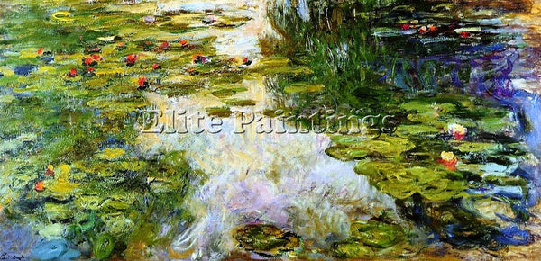 CLAUDE MONET WATER LILIES 42 ARTIST PAINTING REPRODUCTION HANDMADE CANVAS REPRO