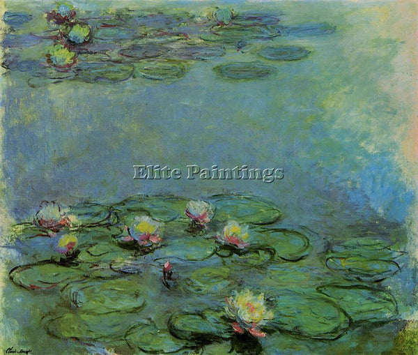CLAUDE MONET WATER LILIES 43 ARTIST PAINTING REPRODUCTION HANDMADE CANVAS REPRO