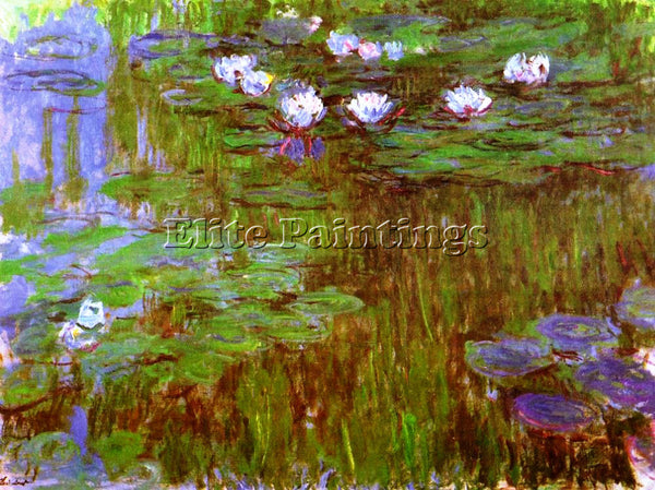 CLAUDE MONET WATER LILIES 44 ARTIST PAINTING REPRODUCTION HANDMADE CANVAS REPRO