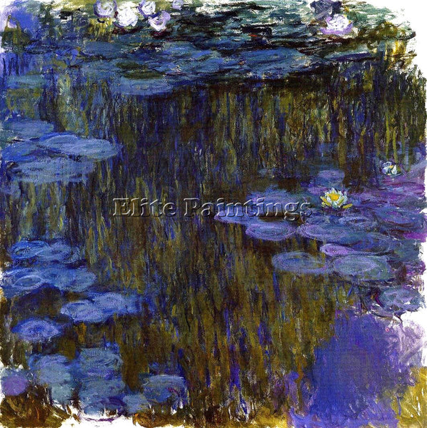 CLAUDE MONET WATER LILIES 49 ARTIST PAINTING REPRODUCTION HANDMADE CANVAS REPRO