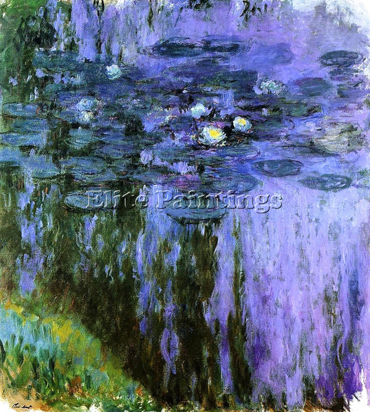 CLAUDE MONET WATER LILIES 51 ARTIST PAINTING REPRODUCTION HANDMADE CANVAS REPRO