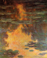 CLAUDE MONET WATER LILIES 9 ARTIST PAINTING REPRODUCTION HANDMADE OIL CANVAS ART