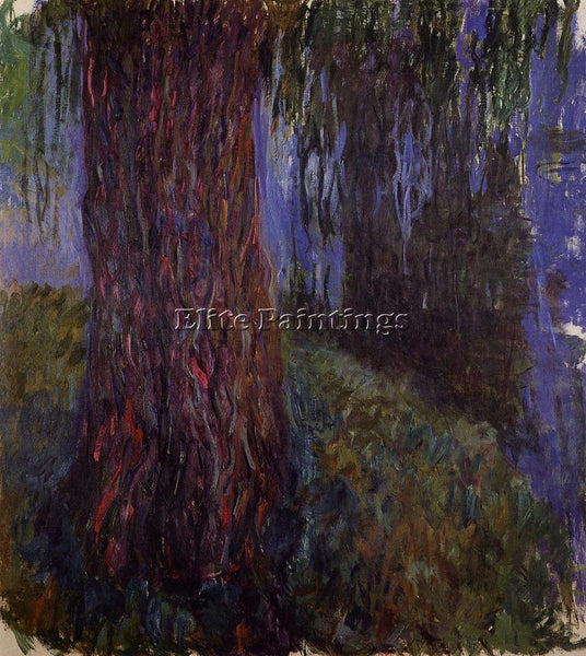 CLAUDE MONET WATER LILY GARDEN WITH WEEPING WILLOW ARTIST PAINTING REPRODUCTION