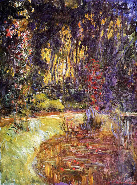 CLAUDE MONET WATER LILY POND AT GIVERNY ARTIST PAINTING REPRODUCTION HANDMADE
