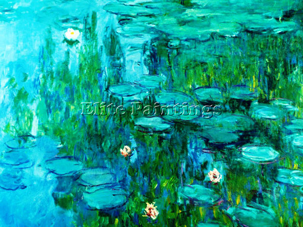 CLAUDE MONET WATER LILIES 111 ARTIST PAINTING REPRODUCTION HANDMADE CANVAS REPRO