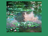 CLAUDE MONET WATERLILLYPOND ARTIST PAINTING REPRODUCTION HANDMADE OIL CANVAS ART