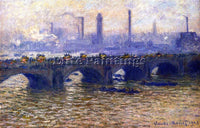 CLAUDE MONET WATERLOO BRIDGE GREY WEATHER ARTIST PAINTING REPRODUCTION HANDMADE