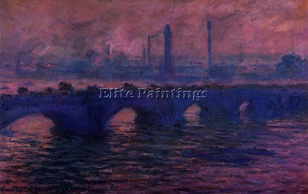 CLAUDE MONET WATERLOO BRIDGE OVERCAST WEATHER 1 ARTIST PAINTING REPRODUCTION OIL