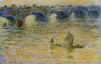 CLAUDE MONET WATERLOO BRIDGE 1 ARTIST PAINTING REPRODUCTION HANDMADE OIL CANVAS