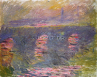 CLAUDE MONET WATERLOO BRIDGE 3 ARTIST PAINTING REPRODUCTION HANDMADE OIL CANVAS