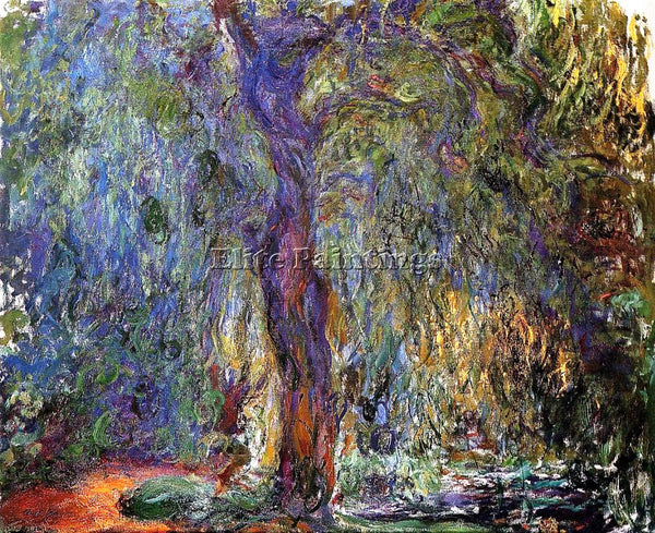 CLAUDE MONET WEEPING WILLOW 3 ARTIST PAINTING REPRODUCTION HANDMADE CANVAS REPRO
