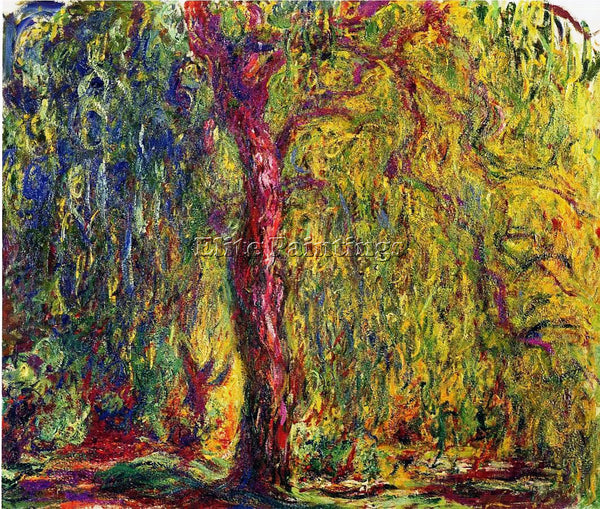 CLAUDE MONET WEEPING WILLOW 4 ARTIST PAINTING REPRODUCTION HANDMADE CANVAS REPRO