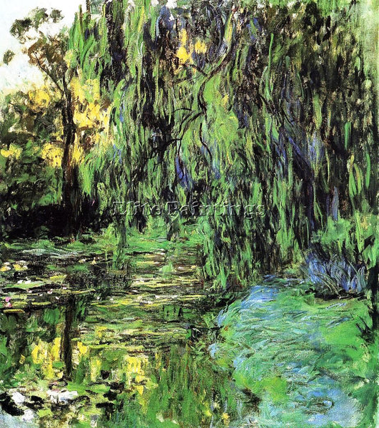CLAUDE MONET WEEPING WILLOW AND WATER LILY POND 2 ARTIST PAINTING REPRODUCTION
