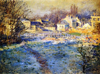 CLAUDE MONET WHITE FROST ARTIST PAINTING REPRODUCTION HANDMADE CANVAS REPRO WALL