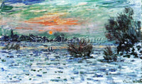 CLAUDE MONET WINTER ON THE SEINE LAVACOURT 1879 80 ARTIST PAINTING REPRODUCTION