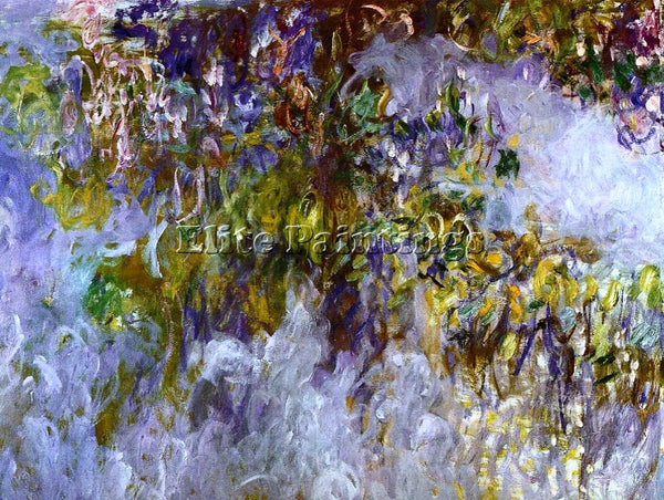 CLAUDE MONET WISTERIA LEFT HALF ARTIST PAINTING REPRODUCTION HANDMADE OIL CANVAS