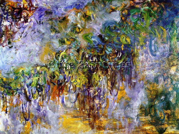 CLAUDE MONET WISTERIA RIGHT HALF ARTIST PAINTING REPRODUCTION HANDMADE OIL REPRO