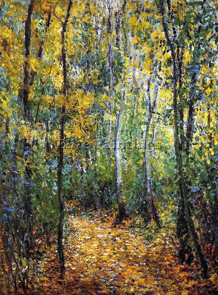 CLAUDE MONET WOOD LANE ARTIST PAINTING REPRODUCTION HANDMADE CANVAS REPRO WALL