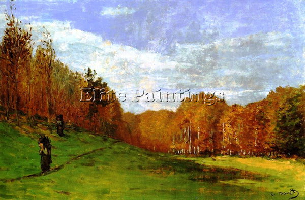CLAUDE MONET WOODBEARERS IN FONTAINEBLEAU FOREST ARTIST PAINTING HANDMADE CANVAS
