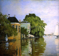 CLAUDE MONET ZAANDAM 2 ARTIST PAINTING REPRODUCTION HANDMADE CANVAS REPRO WALL