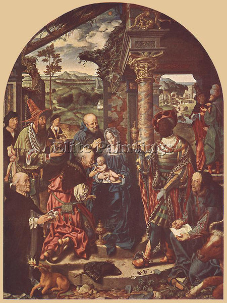 JOOS-VAN CLEVE ADORATION OF THE MAGI ARTIST PAINTING REPRODUCTION HANDMADE OIL