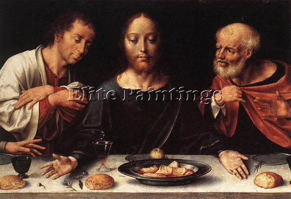 JOOS-VAN CLEVE ALTARPIECE OF THE LAMENTATION DETAIL 1 ARTIST PAINTING HANDMADE