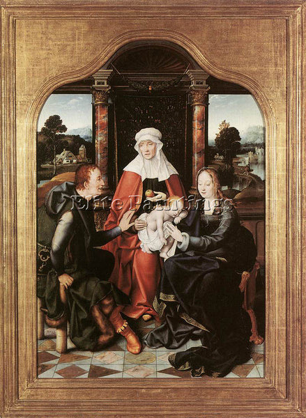 JOOS-VAN CLEVE ST ANNE WITH THE VIRGIN AND CHILD AND ST JOACHIM ARTIST PAINTING