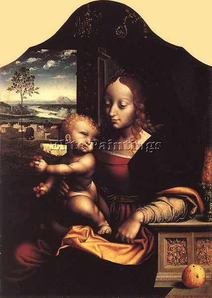 JOOS-VAN CLEVE VIRGIN AND CHILD 2 ARTIST PAINTING REPRODUCTION HANDMADE OIL DECO