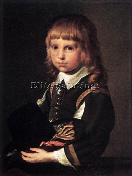 PIETER CODDE CODAZZI VIVIANO PORTRAIT OF A CHILD ARTIST PAINTING HANDMADE CANVAS