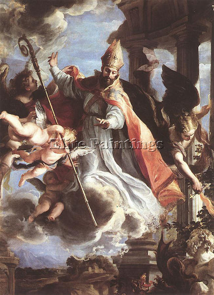 CLAUDIO COELLO THE TRIUMPH OF ST AUGUSTINE ARTIST PAINTING REPRODUCTION HANDMADE