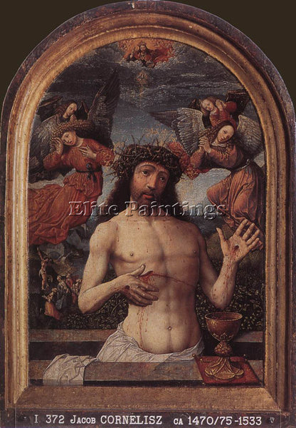 JACOB CORNELISZ VAN OOSTSANEN MAN OF SORROWS ARTIST PAINTING HANDMADE OIL CANVAS