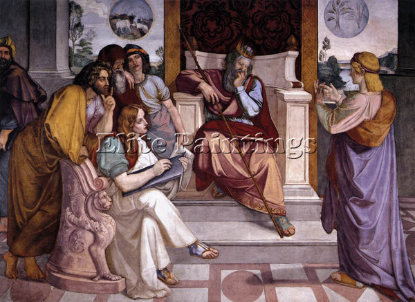 PETER VON CORNELIUS JOSEPH INTERPRETING PHARAOHS DREAM ARTIST PAINTING HANDMADE
