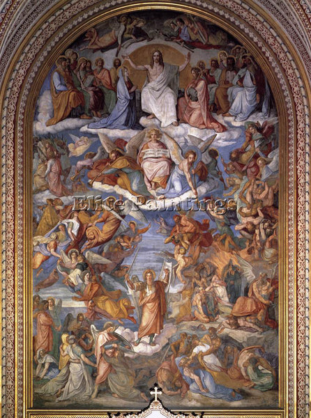 PETER VON CORNELIUS THE LAST JUDGMENT ARTIST PAINTING REPRODUCTION HANDMADE OIL