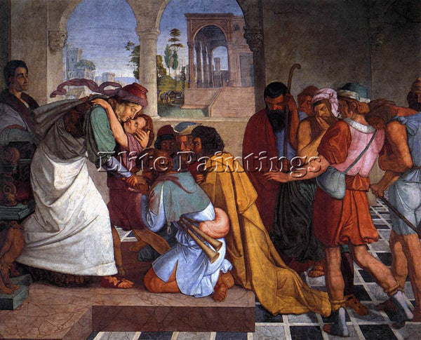 PETER VON CORNELIUS THE RECOGNITION OF JOSEPH BY HIS BROTHERS PAINTING HANDMADE
