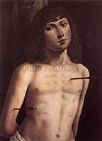 LORENZO COSTA ST SEBASTIAN ARTIST PAINTING REPRODUCTION HANDMADE OIL CANVAS DECO