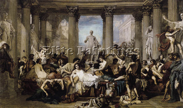 THOMAS COUTURE ROMANS OF THE DECADENCE ARTIST PAINTING REPRODUCTION HANDMADE OIL