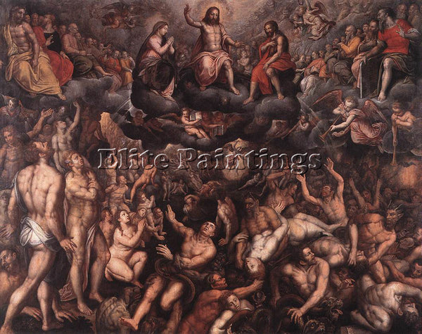 BELGIAN COXCIE RAPHAEL LAST JUDGMENT ARTIST PAINTING REPRODUCTION HANDMADE OIL