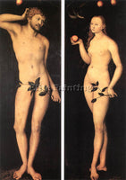 LUCAS CRANACH THE ELDER ADAM AND EVE 1528 ARTIST PAINTING REPRODUCTION HANDMADE