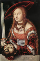 LUCAS CRANACH THE ELDER JUDITH WITH HEAD OF HOLOFERNES ARTIST PAINTING HANDMADE