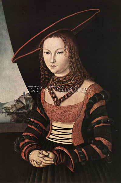 LUCAS CRANACH THE ELDER PORTRAIT OF A WOMAN ARTIST PAINTING HANDMADE OIL CANVAS