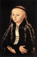 LUCAS CRANACH THE ELDER PORTRAIT OF A YOUNG GIRL ARTIST PAINTING HANDMADE CANVAS