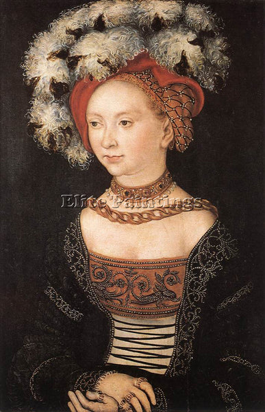 LUCAS CRANACH THE ELDER PORTRAIT OF A YOUNG WOMAN ARTIST PAINTING REPRODUCTION