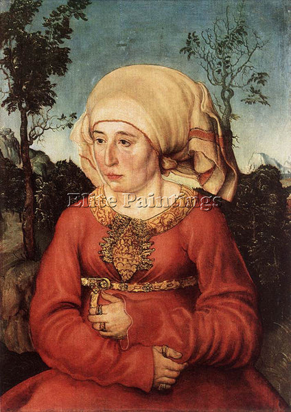 LUCAS CRANACH THE ELDER PORTRAIT OF FRAU REUSS ARTIST PAINTING REPRODUCTION OIL