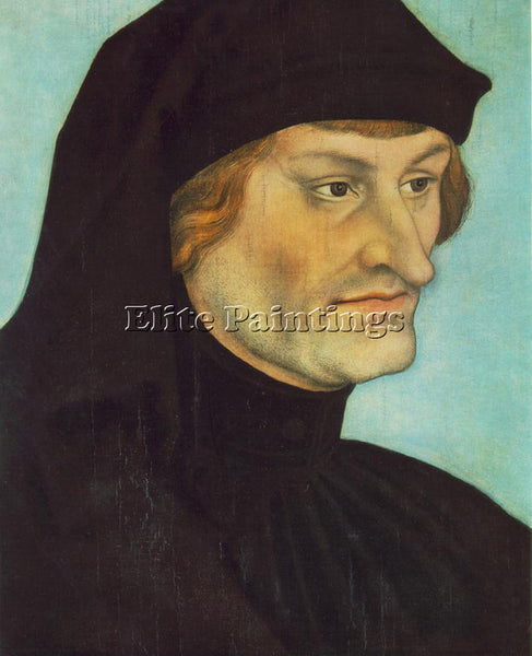 LUCAS CRANACH THE ELDER PORTRAIT OF JOHANNES GEILER VON KAYSERSBERG PAINTING OIL