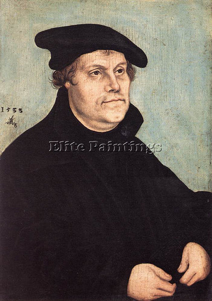 LUCAS CRANACH THE ELDER PORTRAIT OF MARTIN LUTHER ARTIST PAINTING REPRODUCTION
