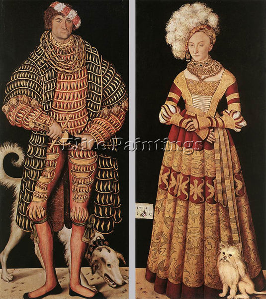 LUCAS CRANACH THE ELDER PORTRAITS OF HENRY THE PIOUS ARTIST PAINTING HANDMADE