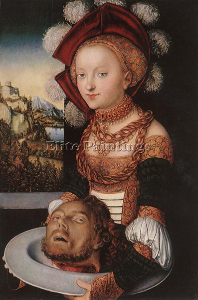 LUCAS CRANACH THE ELDER SALOME 1530 ARTIST PAINTING REPRODUCTION HANDMADE OIL