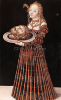 LUCAS CRANACH THE ELDER SALOME WITH HEAD OF ST JOHN THE BAPTIST ARTIST PAINTING