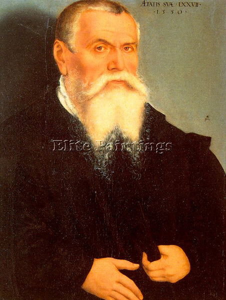 LUCAS CRANACH THE ELDER SELF PORTRAIT ARTIST PAINTING REPRODUCTION HANDMADE OIL